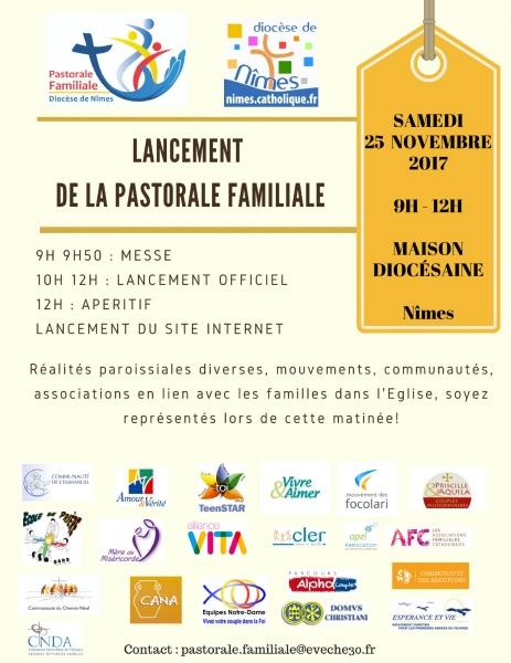 Lancement de la pastorale familiale dans le diocèse de Nîmes (30) le 25 novembre