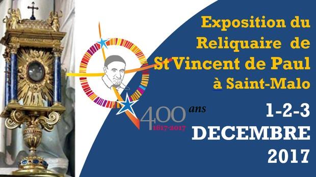 Reliques du Cœur de saint Vincent-de-Paul à Saint-Malo (35) du 1er au 3 décembre
