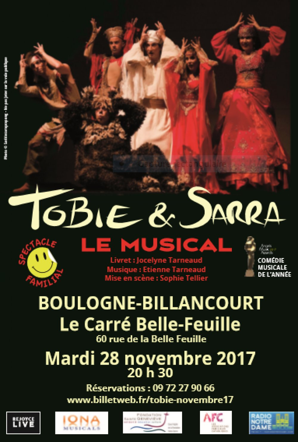 Spectacle Tobie et Sarra le 28 novembre à Boulogne-Billancourt (92)