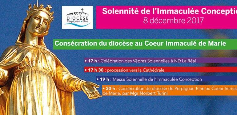 Consécration du diocèse de Perpignan-Elne (66) à l'Immaculée Conception le 8 décembre