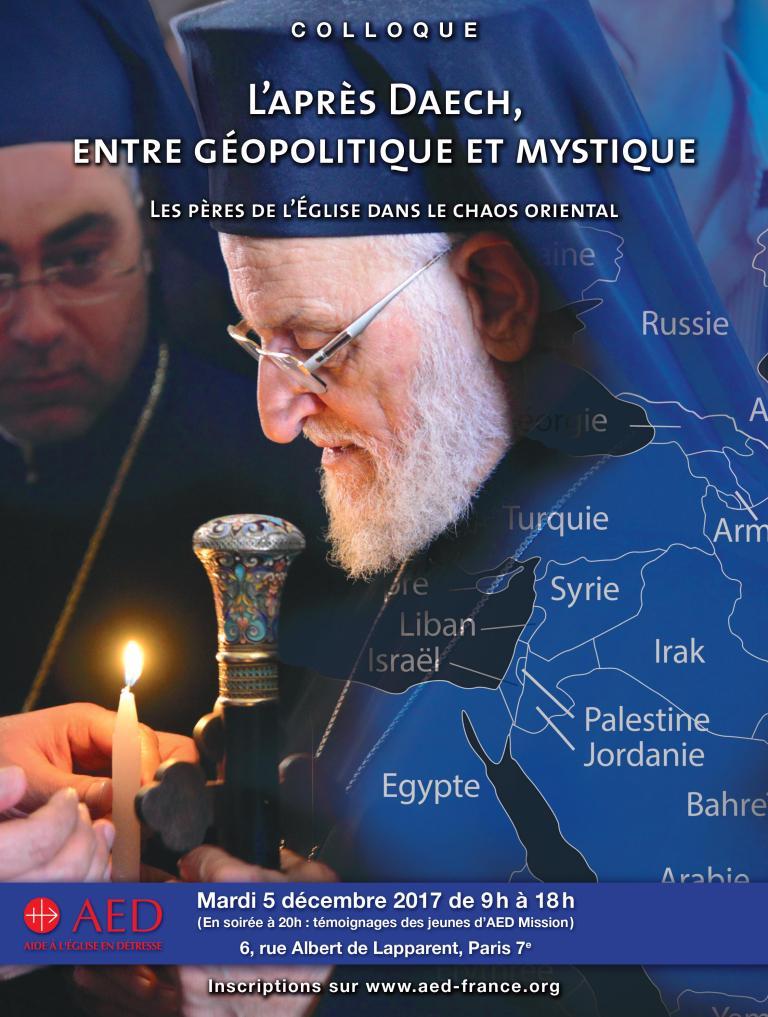 Colloque AED – 5 déc 2017: l'après Daech, entre géopolitique et mystique – Paris