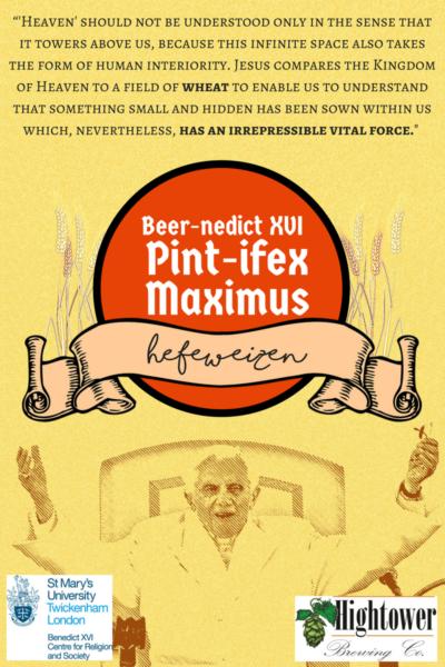 Une bière en l'honneur de Benoît XVI