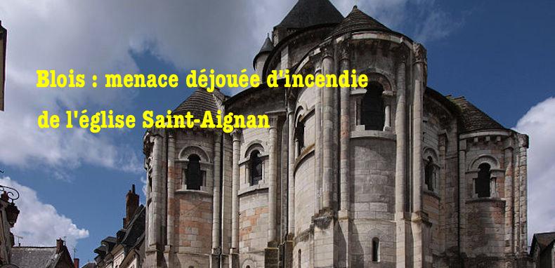 Blois – Menace déjouée d'incendie d'une église