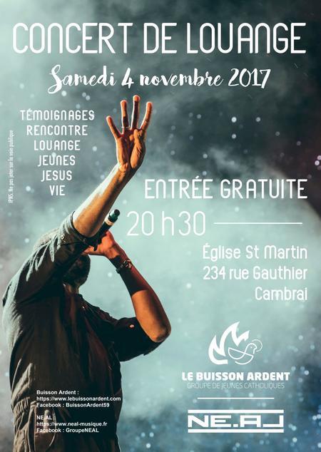 Concert de louange à Cambrai (59) le 4 novembre