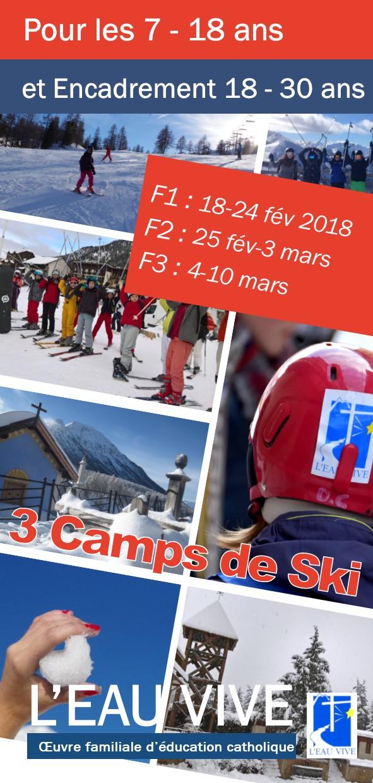L'Eau vive propose 3 camps de ski pour les vacances de février-mars à Briançon (05)
