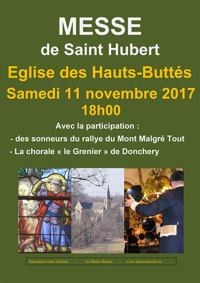 Hauts-Buttés (08): messe de la Saint Hubert le 11 novembre