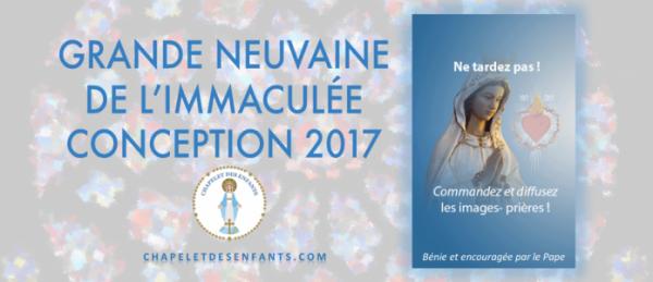 Grande Neuvaine de l'Immaculée Conception 2017
