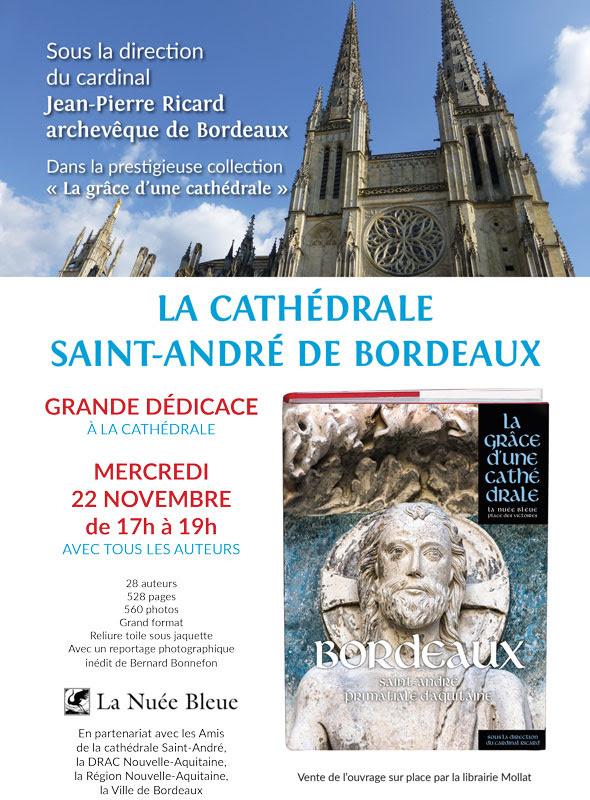 """""""La grâce d'une cathédrale"""" – Bordeaux (33) – soirée dédicace du livre le 22 novembre"""