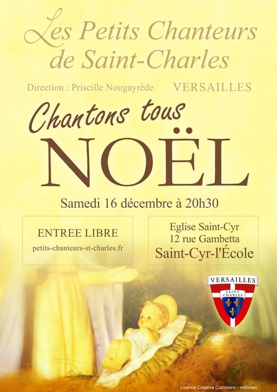 Concert de Noël des Petits Chanteurs de Saint-Charles à Saint-Cyr (78) le 16 décembre