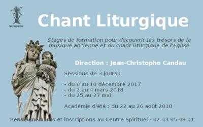 Stage de chant sacré polyphonique et grégorien du 8 (soir) au 10 décembre (14h) à Notre-Dame du Chêne (72)