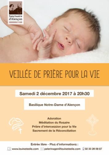 Veillée pour la vie le 2 décembre à Montligeon, Alençon et Sées (61)