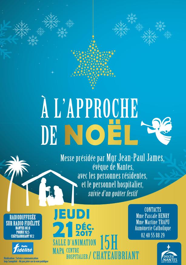 21 décembre 2017: Messe des malades à l'approche de Noël à Châteaubriant (44)