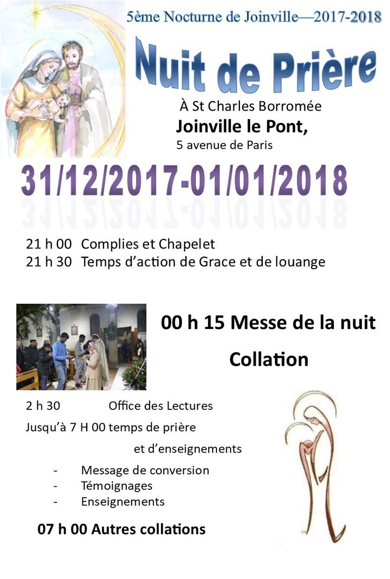 Nuit de prière à Joinville-le-Pont (94) le 31 décembre