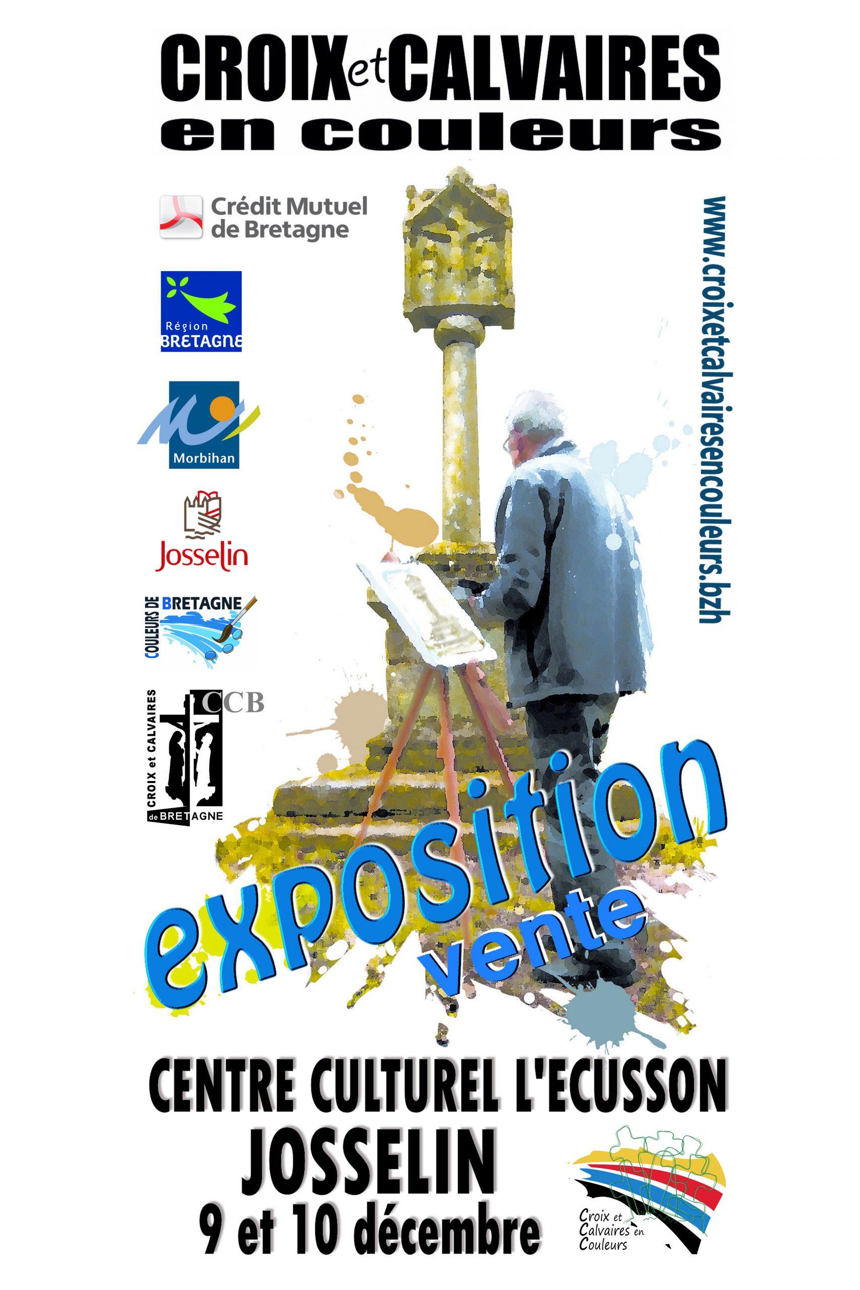 Concours Croix et Calvaires en couleurs, exposition-vente de peintures les 9 et 10 décembre à Josselin (56)