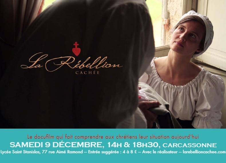 Projection du film La rébellion cachée à Carcassonne (11) le 9 décembre