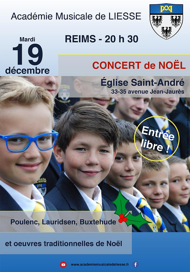 Concert de l'Académie Musicale de Liesse le 19 décembre à Reims (51)