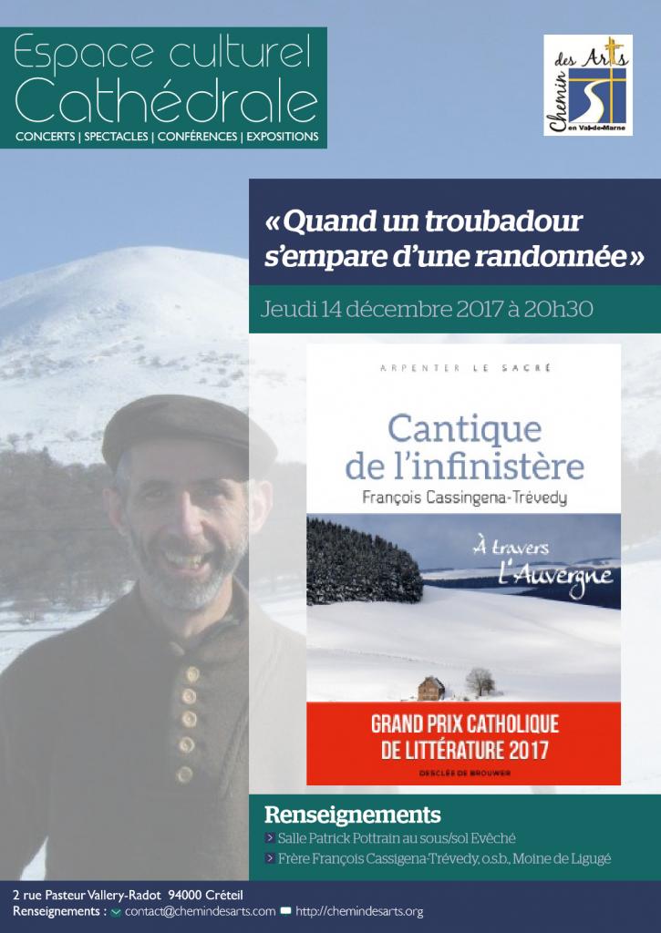 Conférence «Quand un troubadour s'empare d'une randonnée.» le 14 décembre à Créteil (94) – Frère François Cassingena – Trévedy