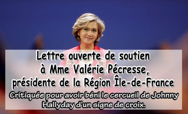Soutien à Valérie Pécresse, présidente de la Région Île-de-France