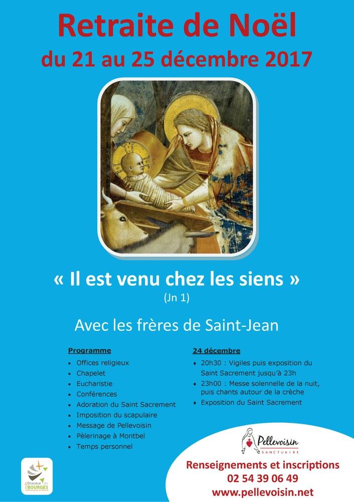 Retraite de Noël avec les frères de Saint-Jean du 21 au 25 décembre à Pellevoisin (36)