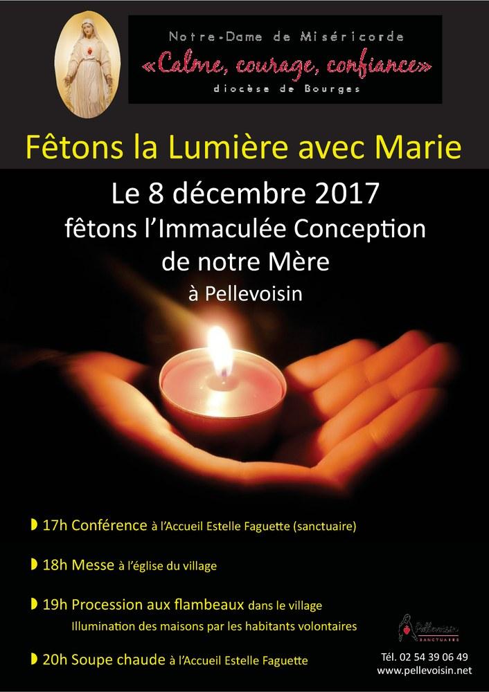 Fêtons la Lumière avec Marie le 8 décembre à Pellevoisin (36)