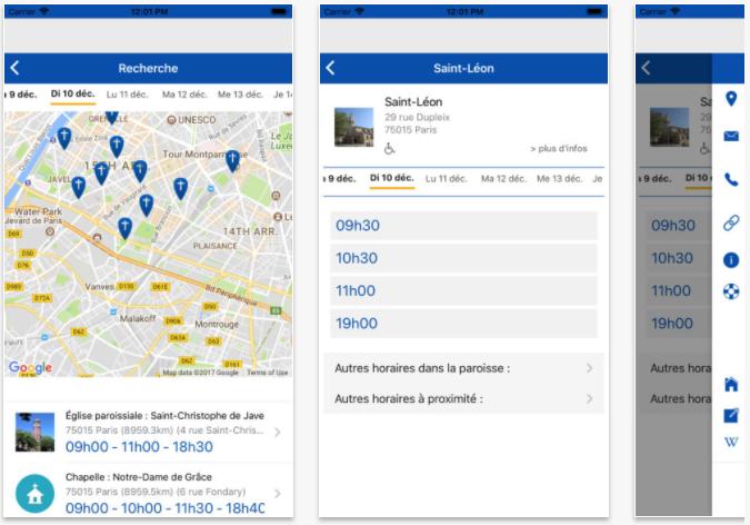 Les applications mobiles de l'Eglise catholique en France