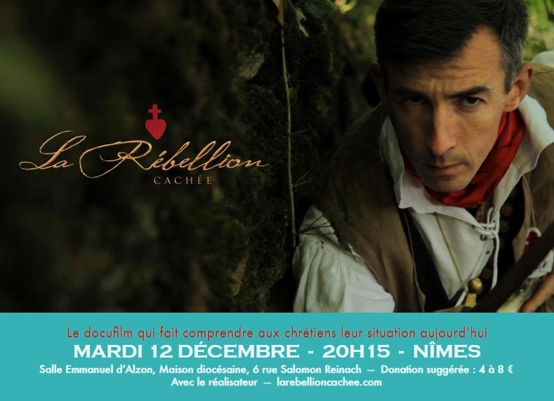 Projection du film La rébellion cachée à Nîmes (30) le 12 décembre