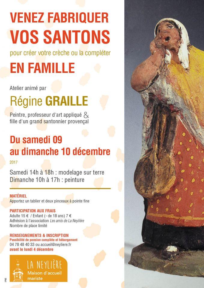 Venez fabriquer vos santons en famille – 9 et 10 décembre à Pomeys (69)