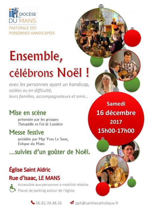 Avec les personnes handicapées célébrons Noël: 16 décembre au Mans (72)