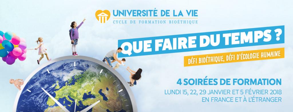 Alliance VITA lance sa 13ème Université de la vie: 15, 22, 29 janvier et 5 février en France et à l'étranger