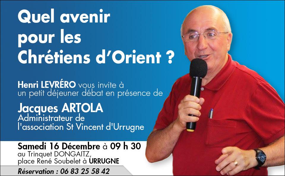 AFC – Petit-déjeuner débat sur les Chrétiens d'Orient à Urrugne (64) le 16 décembre