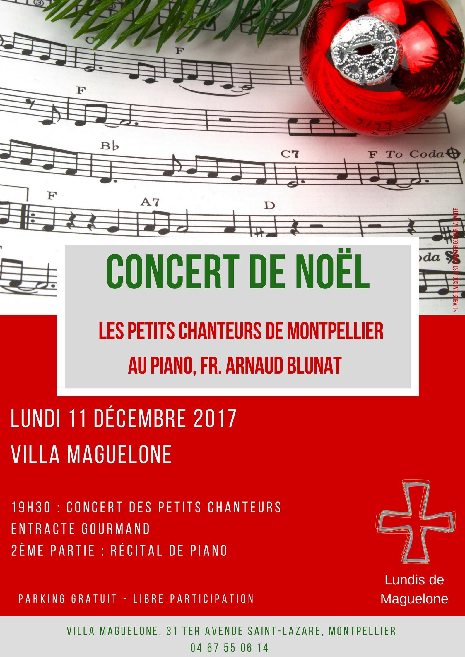 Lundis de Maguelone: Concert de Noël le 11 décembre à Montpellier (34)