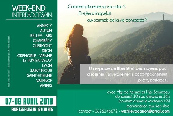 Week-end «Lève-toi ma bien-aimée et viens!» à Annecy (74) les 7 et 8 avril
