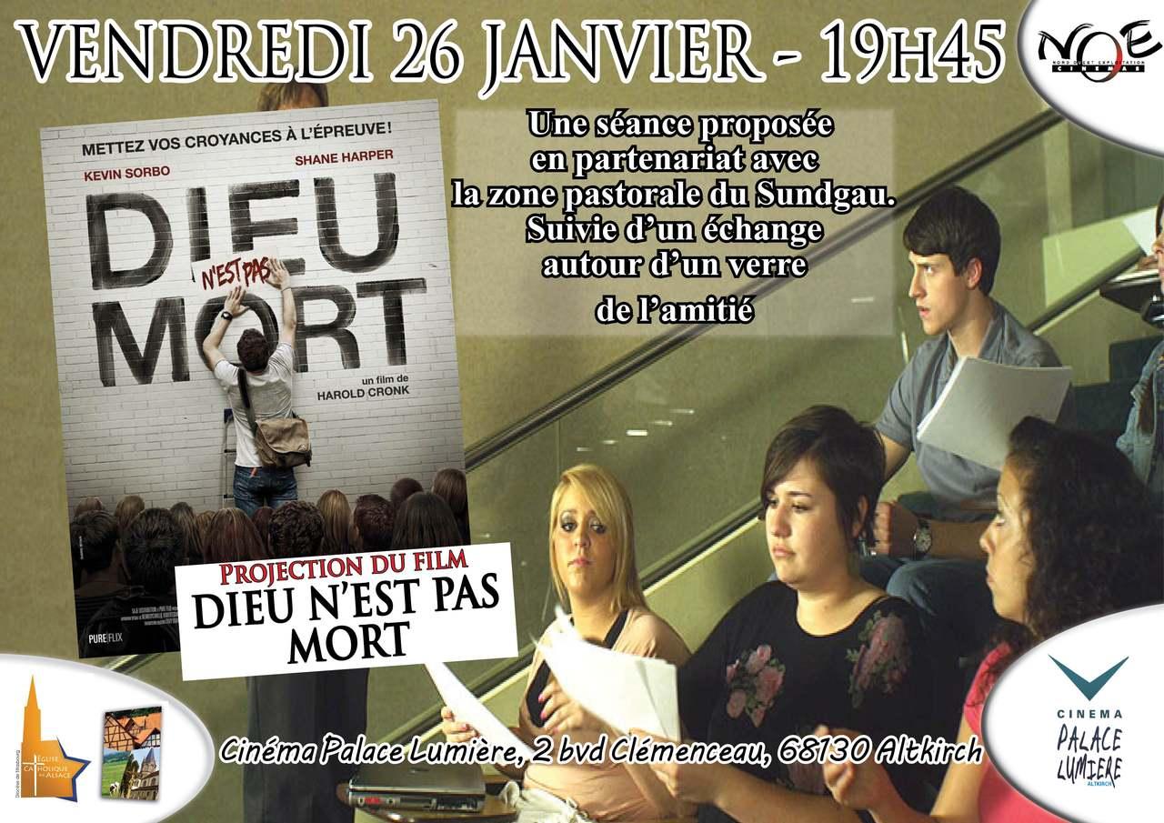 """Le film """"Dieu n'est pas mort"""" projeté à Altkirch (68) le 26 janvier 2018"""