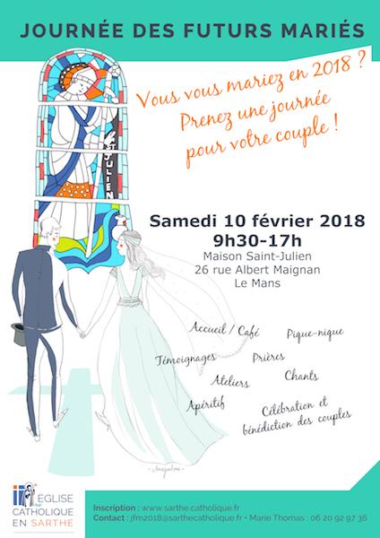 Journée des futurs mariés du diocèse du Mans (72) – 10 février 2018 – INSCRIPTIONS
