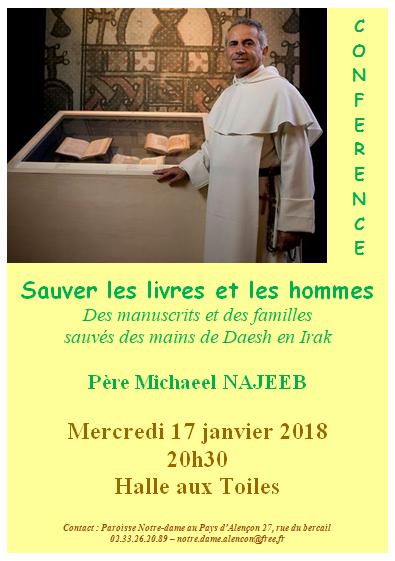Conférence exceptionnelle du Père Najeeb à Alençon (61) le 17 janvier 2018