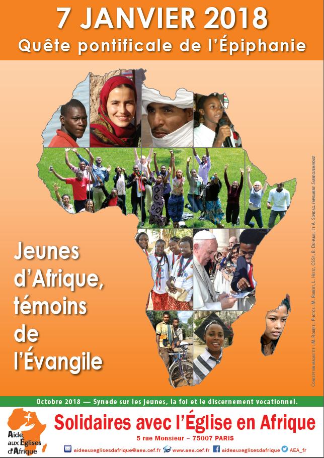 Epiphanie: dimanche 7 janvier 2018 – quête pour l'Eglise d'Afrique