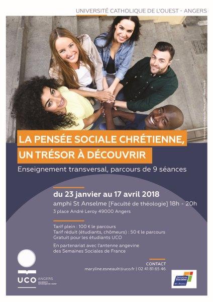 La pensée sociale chrétienne: des repères pour agir – formation du 23 janvier au 10 avril à Angers (49)