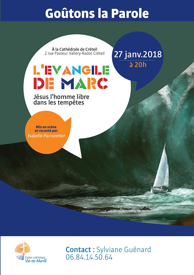 L'évangile de Marc – Spectacle le 27 janvier 2018 à Créteil (94)