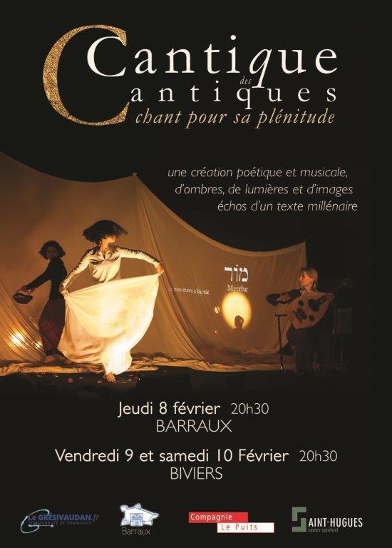 Le Cantique des Cantiques, un spectacle, une audace! Les 8, 9 et 10 février 2018 en Isère (38)