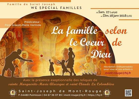 Week-end spécial familles les 27-28 janvier à Puimisson (34) – Famille de St Joseph