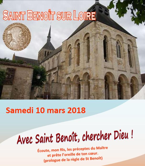 Pèlerinage à Saint-Benoît-sur-Loire le 10 mars 2018 – diocèse d'Evry (91)