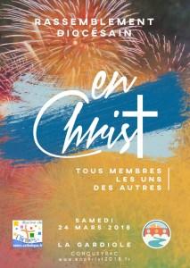 Rendez-vous le samedi 24 mars 2018 à La Gardiole! Diocèse de Nîmes (30)