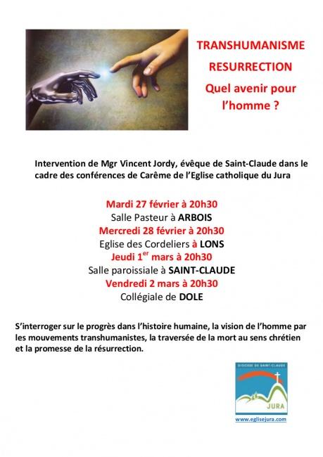 4 Conférences de Carême sur le transhumanisme dans le diocèse de Saint-Claude (39) du 27 février