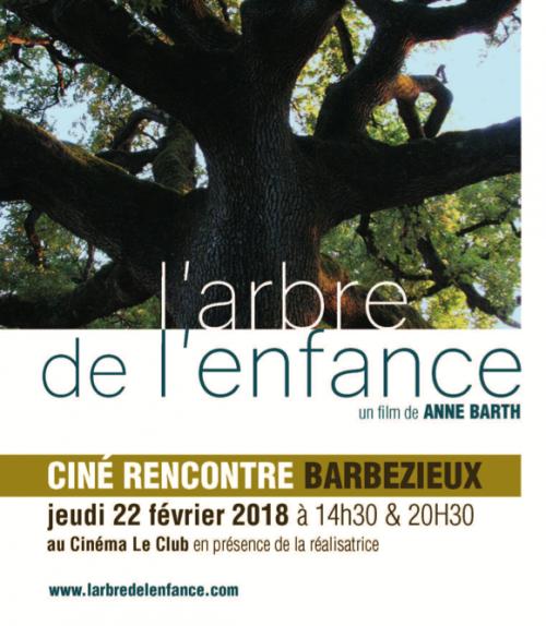 """Film """"L'arbre de l'Enfance """" en présence de la réalisatrice Anne Barth à Barbezieux (16) le 22 février 2018"""