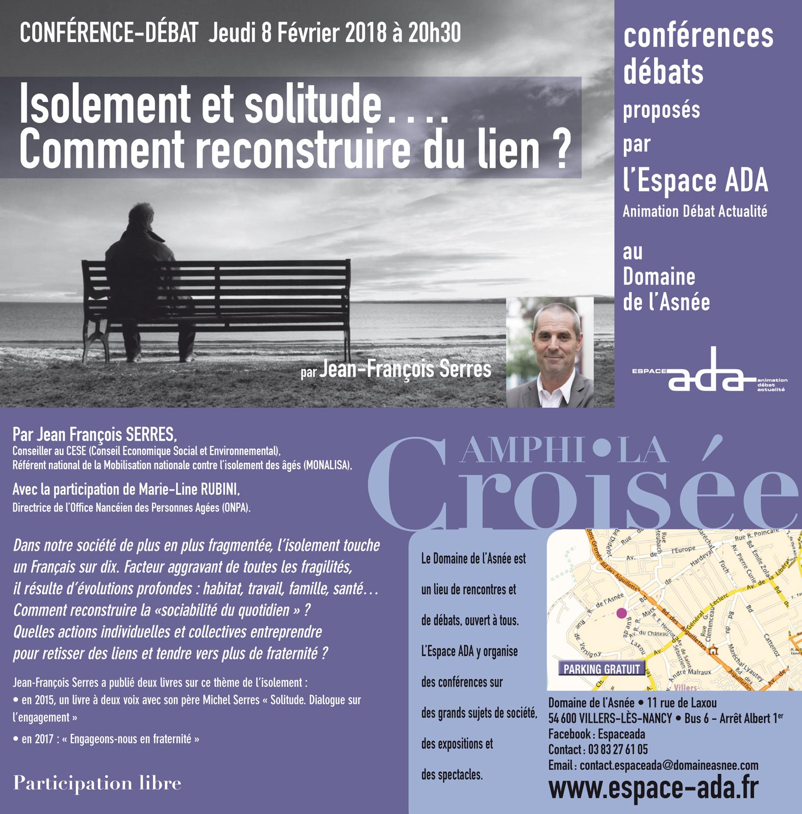 Comment reconstruire du lien?  Conférence-débat le 8 février 2018 à Villers-lès-Nancy (54)