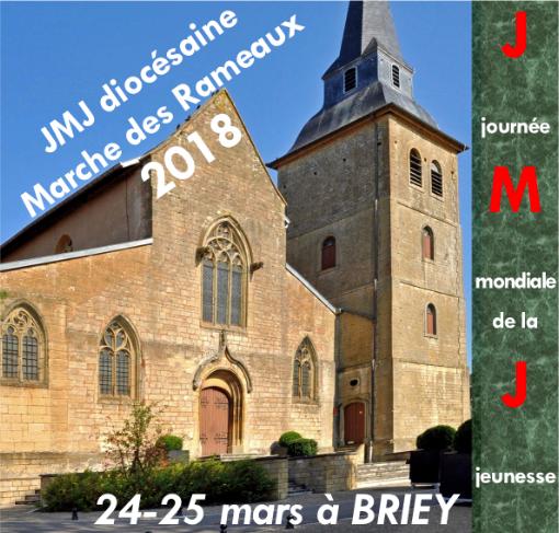 Marche des Rameaux pour les jeunes à Nancy (54) les 24 et 25 mars 2018