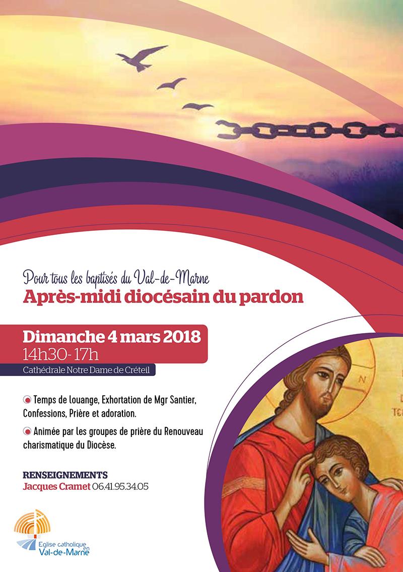 Après-midi diocésain du pardon à Créteil (94) le 4 mars 2018