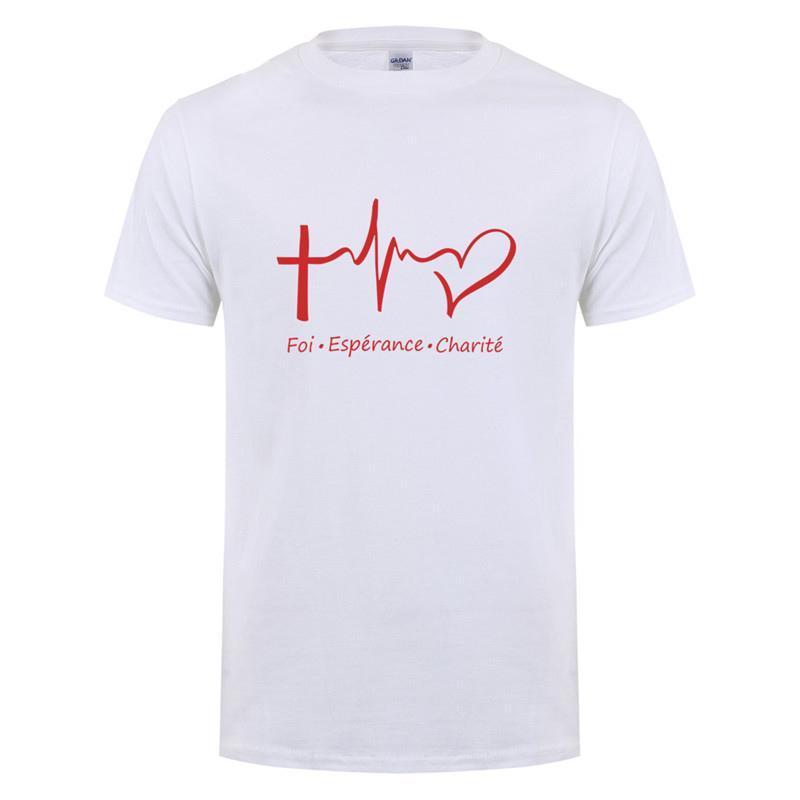 Un t-shirt sur les vertus théologales pour témoigner de la foi!