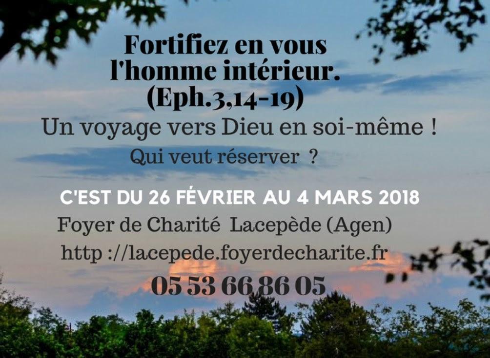 Retraite de Carême avec les Foyers de Charité à Colayrac (47) du 26 février au 4 mars 2018