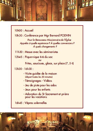 Journée spirituelle et fraternelle au Séminaire de Lille (59) le 7 avril 2018